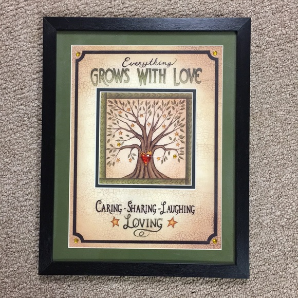 Other - Everything Grows With Love Framed Wall Art